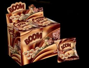 BOOM chocolate filled biscuits