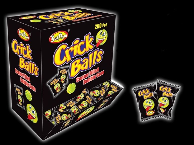 Crick Balls center filled bubble gum